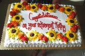 Herbstlich inspirierter Blechkuchen, dekoriert von Designs by Ellen   – Cakes