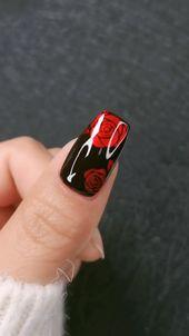DIY Nails | Gorgeous rose nail art design 2020