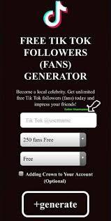 Free Tiktok Followers Fans Generator Free Followers Free Followers On Instagram How To Get Famous