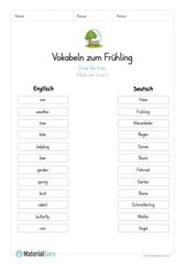 A free worksheet on spring, on which the children …- Ein kostenloses Arbeitsbl…