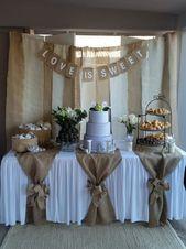 """Gebraucht (normale Abnutzung), Dessert Tisch Hintergrund mit """"Liebe ist süß"""" Z – Hochzeit"""