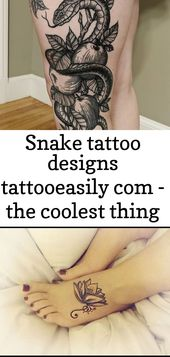 Snake Tattoo Designs tattooeasily com – das coolste an diesem Tattoo ist das Shadowing behin 1