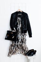 Lässig / Alltäglich Solide Langarm-Kleid aus Baumwolle mit ...
