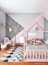 Geometrische Malerei im Kinderzimmer