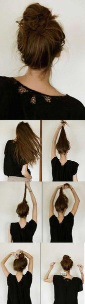 41+ Best Ideas Braids Bun Hairstyles Top Knot,  #braids #bun #Hairstyles #Ideas #knot
