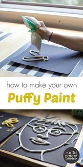 DIY Puffy Paint för barn som faktiskt är puffy (ett enkelt recept)