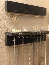 Earring Organizer | Wood Jewelry Display | Jewelry Rack | Jewelry Organizer With Shelf