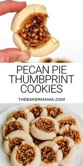 Pecan Pie Fingerabdruck Kekse #shortbreadcookies