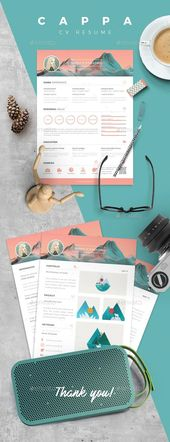 Illustrator Resume CAPPA - Resume CV Template for $6 - GraphicRiver #resume #cv #ResumeTemplate #pr...