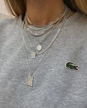 Accessoires de bijoux – Collier en argent #Camillebrinch ⛓ #Smykker #Jewelry #White # Rå  #…
