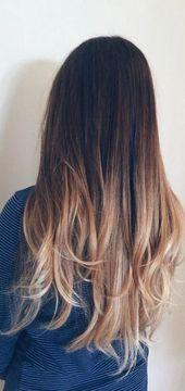 45 Dunkelbraun bis Hellbraun Ombre Lange Haarfarbe Ideen Diese besten 45