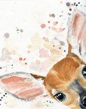 Kinderzimmer Dekor – Hirsch Print – Fawn Kindergarten – Hirsch Kindergarten – Woodland Kinderzimmer Dekor – Cottage Dekor – Tier Wand Dekor – Otter Geschenk