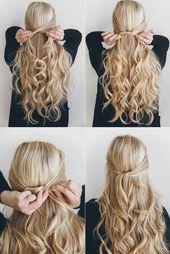 25 einfache Frisuren für langes Haar – Easy hairstyles for long hair – Aheyko Blog