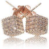 Women's Diamond Earrings by Loushelou Rose Gol…