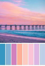Super Hochzeit Strand Farben Farbpaletten Schatten Ideen