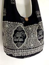 Thai handmade Women bag Handbags Cotton bag Elephant bag Hippie Hobo bag Boho bag Shoulder bag...