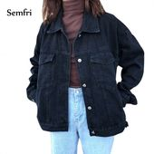 Coat Black Jeans Jacket Casual Denim Jacket