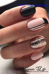 20 Simple Black Nail Art Design Ideas #nails
