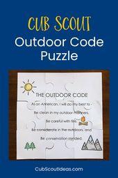 Wie erstelle ich ein Cub Scout Outdoor Code Puzzle? – Cub Scout mama