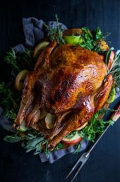 Apple Cider-Glazed Roasted Turkey with Herbed Butter – Climbing Grier Mountain