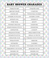 Exceptional Baby Shower Charades (Free Printable | Charades, Babyshower And Free  Printable