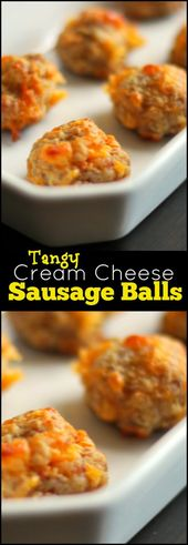 Tangy Cream Cheese Sausage Balls