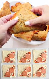Poches à pizza maison faciles au fromage