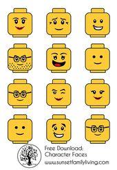 Lego Gesichter … – Bastelideen Kinder   – Bastelideen Kinder