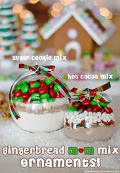 Cookie Mix Ornaments with M&M's