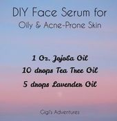 DIY Face Serum for Oily and Acne-Prone Skin (1) #F…