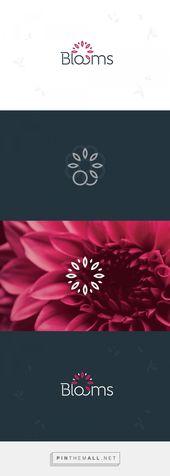 Logotipo de servicio de entrega de flores moderno y minimalista. Diseño de logotipo de flores  – design