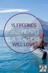 15 Freebies Secondary ELA Academics will Love