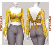 simstrouble: ALEIDA TOP by simstrouble Base Recreation… | love four cc finds