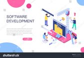Modern Flat Design Isometric Concept Software Stock Vector (Royalty Free) 1215976411