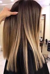 Glattes Haar fegen   – haare