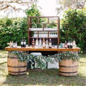 18 Perfect Wedding Drink Bar und Station Ideen für Hochzeiten im Herbst backyard wedding