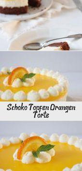 Schoko Topfen Orangen Torte