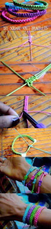 Einfach, quadratische Knoten-Armbänder herzustellen – betul