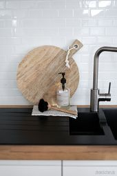 Küchenrückwand aus Fliesenaufklebern: Metro Fliesen für den Scandi-Look