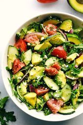 Avocado, Tomato and Cucumber Arugula Salad | The Recipe Critic