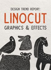 Illustrator Brushes Design Trend Report: Linocut Graphics and Effects Creative Market blog www.creat...
