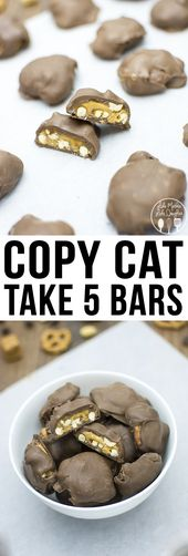 Copy Cat Take 5 Bars – These homemade take 5 bars are just as good as the real t…