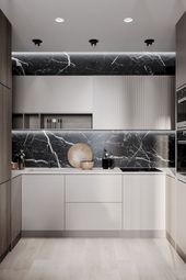 38 Modern Minimalist Kitchen Design with Granite Decoration