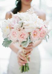 romantische Erscheinung Chic Flower rosa Brautstrauß-weiße Rosen   – Brautstrauß