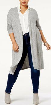 BCX Trendy Plus Size Duster Cardigan