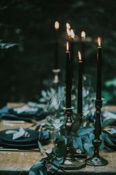 black #wedding #candles #with #antikem #silver # …