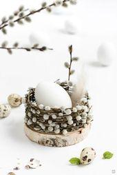 Osterkörbchen flechten mit Baumscheiben   ZWO:STE