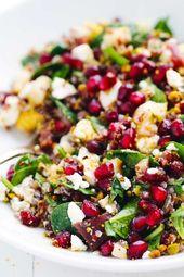 Winter-Regenbogen-Quinoa-Salat   – Vegan.