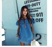 2018 neue Modedesigner lose Slash Neck Jeans Kleider Sommer Casual Sleevelessrricdress – Dresses