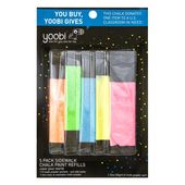 Yoobi Sidewalk Chalk with Powder Refill – 5pc  – Products